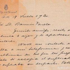 Manuscritos antiguos: 1920 SEVILLA. CARTA MANUSCRITA Y FIRMADA POR DIPUTADO PROVINCIAL. Lote 95297651