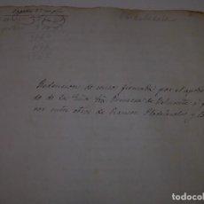 Manuscritos antiguos: ESCRITURA REDENCION DE CENSOS FIRMADA POR EL APODERADO DE LA PRINCESA DE BELMONTE..AYGUAFREDA. 1.893. Lote 95426135