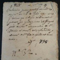 Manuscritos antiguos: BENIMELI ALICANTE 1582 DECLARACION DE PERTENENCIA EN VALENCIANO. Lote 95734312