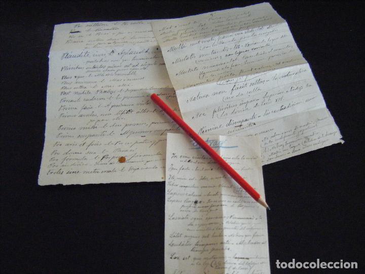 Jml Raro Lote Documentos Manuscritos Expresione Sold