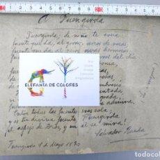 Manuscritos antiguos: SALVADOR RUEDA - OBRA INÉDITA SOBRE FUENGIROLA - FOTOGRAFÍA DEL DOCUMENTO ORIGINAL - IMP. ZAMBRANA. Lote 96106243