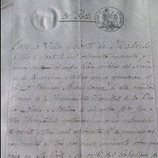 Manuscritos antiguos: DOCUMENTO MANUSCRITO. SELLO FISCAL 1859. DESCONOZCO EL CONTENIDO. VER FOTOS. Lote 96143075