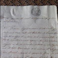 Manuscritos antiguos: DOCUMENTO MANUSCRITO. SELLO FISCAL 1861. DESCONOZCO EL CONTENIDO. VER FOTOS. Lote 96143215