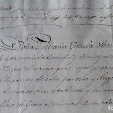 Manuscritos antiguos: DOCUMENTO MANUSCRITO. DESCONOZCO EL CONTENIDO. VER FOTOS. Lote 96143619