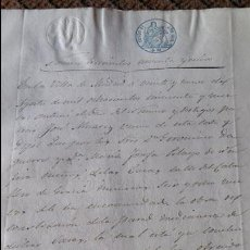 Manuscritos antiguos: DOCUMENTO MANUSCRITO. SELLO FISCAL 1859 DESCONOZCO EL CONTENIDO. VER FOTOS. Lote 96143743