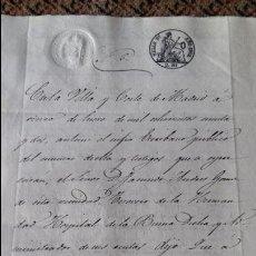 Manuscritos antiguos: DOCUMENTO MANUSCRITO. SELLO FISCAL 1862 DESCONOZCO EL CONTENIDO. VER FOTOS. Lote 96143811