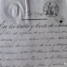 Manuscritos antiguos: DOCUMENTO MANUSCRITO. SELLO FISCAL 1861 DESCONOZCO EL CONTENIDO. VER FOTOS. Lote 96143899