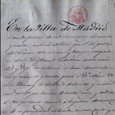 Manuscritos antiguos: DOCUMENTO MANUSCRITO. SELLO FISCAL 1854 DESCONOZCO EL CONTENIDO. VER FOTOS. Lote 96144219
