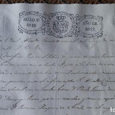 Manuscritos antiguos: DOCUMENTO MANUSCRITO. SELLO FISCAL 1842 DESCONOZCO EL CONTENIDO. VER FOTOS. Lote 210719929