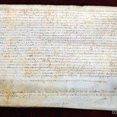 Manuscritos antiguos: ANTIGUO DOCUMENTO MANUSCRITO DEL SIGLO XV. FECHADO DEL AÑO 1473. VALLES ORIENTAL. Lote 96145595