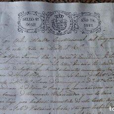Manuscritos antiguos: DOCUMENTO MANUSCRITO. SELLO FISCAL 1842 DESCONOZCO EL CONTENIDO. VER FOTOS. Lote 96146535