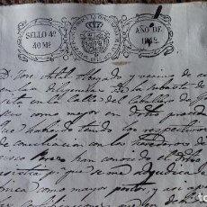 Manuscritos antiguos: DOCUMENTO MANUSCRITO. SELLO FISCAL 1842 DESCONOZCO EL CONTENIDO. VER FOTOS. Lote 210719947