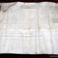 Manuscritos antiguos: ANTIGUO DOCUMENTO MANUSCRITO DEL SIGLO XV. FECHADO DEL AÑO 1411 (VALLES ORIENTAL, CARDEDEU). Lote 96147547