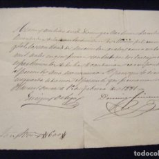 Manuscritos antiguos: JML MANUSCRITO A PLUMA RECIBO PAGO EN REALES, HUERCAL OVERA 15 SEPTIEMBRE 1881, ALMERIA. VER FOTOS. Lote 96219451