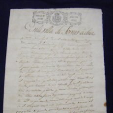 Manuscritos antiguos: JML DOCUMENTO MANUSCRITO CASTELLANO ANTIGUO SORBAS, ALMERIA, TEMA TIERRAS. SELLO 4º 40 MS. 1842. VER. Lote 96221027