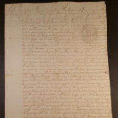 Manuscritos antiguos: 1726 HOJA SERVICIOS DEL MARISCAL DE CAMPO FIRMADA POR EL VIRREY DE MEXICO. Lote 96263682