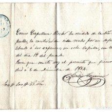 Manuscritos antiguos: CARTA MANUSCRITA RECIBO CAPELLAN RECTOR 1884. Lote 96535779