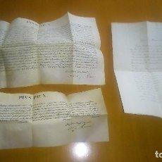 Manuscritos antiguos: DOS BREVES PONTIFICIOS DE PIO X- ORATORIO E INDULGENCIA- Y PETICIÓN DE VIA CRUCIS. BARCELONA 1907. Lote 96737771