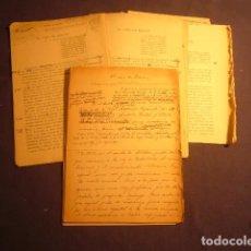Manuscritos antiguos: RAMON PERES Y PERES: - EL CASO BOSCAN - (MANUSCRITO ORIGINAL) (1933). Lote 96751263
