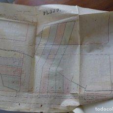 Manuscritos antiguos: VIGO, 1879 ESCRITURA CON PLANO DIVISIÓN FINCA CALLE RAMALILLO. Lote 227065360