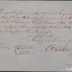 Manuscritos antiguos: L14-17-8 RECIBO DE LA SRA. VDA. DE OSBORNE PARA EL PAGO DEL TRANSPORTE DE 9 BULTOS POR EL VAPOR GUA. Lote 97524779