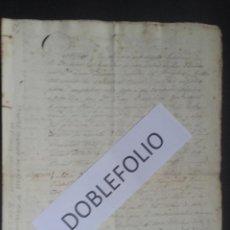 Manuscritos antiguos: NAUFRAGIO DEL BERGANTIN GENERAL OQUENDO AÑO 1833 NARRANDO TODAS LAS INCIDENCIAS DEL NAUFRAGIO. Lote 195140622