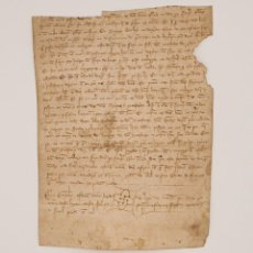 Manuscritos antiguos: DOCUMENTO MANUSCRITO S. XIV ESCRITO EN GALLEGO. GALICIA. Lote 97726967
