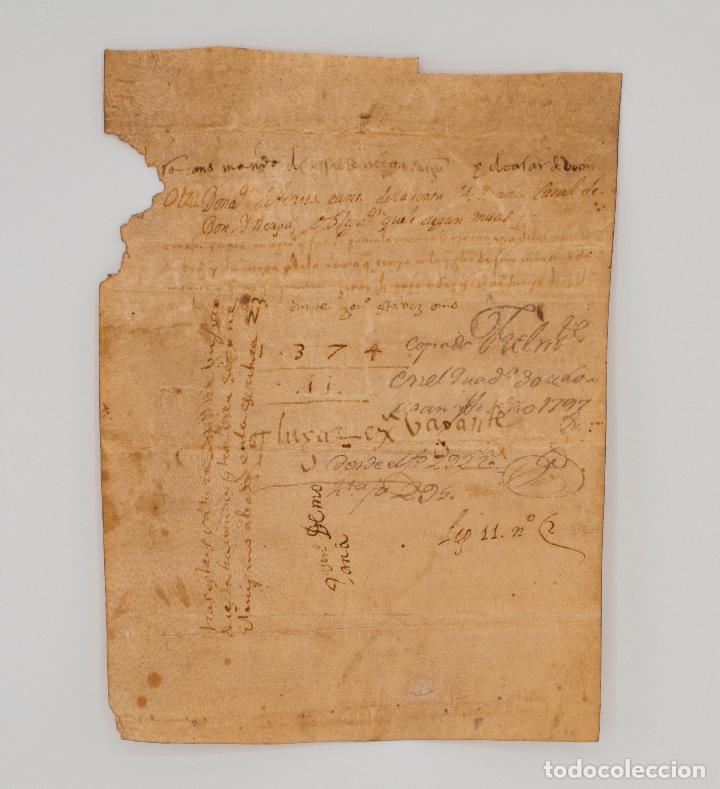 Manuscritos antiguos: Documento manuscrito s. XIV escrito en gallego. Galicia - Foto 2 - 97726967