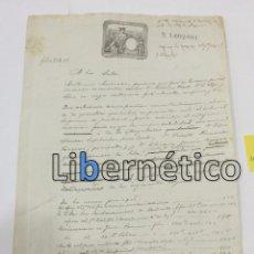 Manuscritos antiguos: ESCRITURA. MANUSCRITO. HABANA 1892. QUERELLA ANTE TRIBUNAL SUPREMO. Lote 97788959