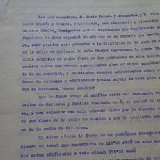 Manuscritos antiguos: TASACIÓN FINCAS DE TABACALERA VÍA LAYETANA, C/ SICILIA, BARCELONA, 1925, 15 PAGS. Lote 97979507