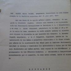 Manuscritos antiguos: DICTAMEN DAÑOS OBRA TUNEL C/ SANS BARCELONA, 1928,16 PAGS APROX. Lote 97979683