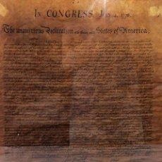 Manuscritos antiguos: DECLARACIÓN DE INDEPENDENCIA DE LOS ESTADOS UNIDOS DE AMÉRICA. COPIA. U.S.A. XIX. Lote 98213931