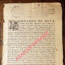 Manuscritos antiguos: FERNANDO DE SILVA ÁLVAREZ DE TOLEDO, DUQUE DE ALBA, NOMBRAMIENTO DE REGIDORES, 1757, TIMBROLOGIA. Lote 98830103