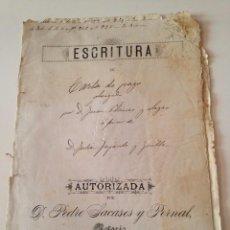 Manuscritos antiguos: ESCRITURA CARTA PAGO VILLAFRANCA DEL PANADÉS (BARCELONA) 1894, PEDRO SACASES PERNAL. Lote 98863735