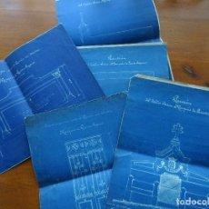 Manuscritos antiguos: MARQUESES PUERTO SEGURO, 1896, LOTE FORMADO POR SUS TESTAMENTOS Y PLANOS DE PANTEÓN. Lote 99365991