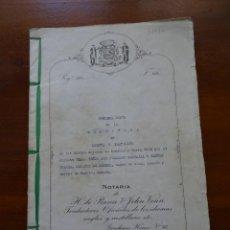 Manuscritos antiguos: PARTICIÓN DE LOS BIENES DEJADOS EN LONDRES Y NUEVA YORK POR EL MARQUÉS DE GOUBEA, 1942, 45 PAGS. Lote 99366463