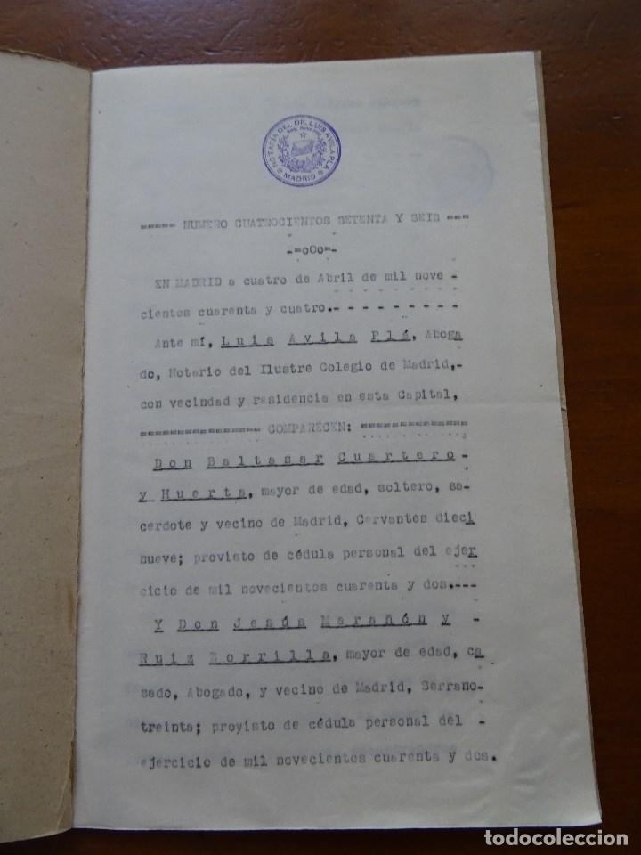 Manuscritos antiguos: Marqués de Cenete, lote sobre fundación con la Archicofradía Sacramental en San Isidro, Madrid - Foto 3 - 99367363