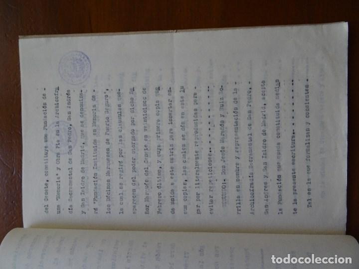 Manuscritos antiguos: Marqués de Cenete, lote sobre fundación con la Archicofradía Sacramental en San Isidro, Madrid - Foto 4 - 99367363