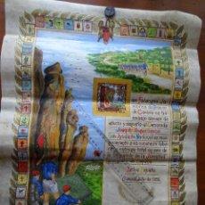 Manuscritos antiguos: FALANGE CUENCA 1955, 61 X 46 CM ARTÍSTICO PERGAMINO MINIADO. Lote 99986767