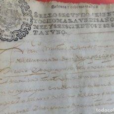Manuscritos antiguos: MANUSCRITO JUDICIAL D.F. HIERRO TAPIA CONTRA D.LÓPEZ NAVARRO SOBRE CESIÓN TENERIA EN GRANADA 1661. Lote 100008259