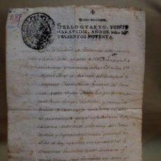 Manuscritos antiguos: DOCUMENTO NOTARIAL, VENTA EN ALBUFERA, CATARROJA, JOSEPH ALVAREZ I JORDAN, NOTARIO DE VALENCIA, 1790. Lote 114942372