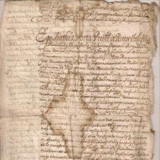 Manuscritos antiguos: DOCUMENTO MANUSCRITO - PARECE ESTAR EN LATÍN . Lote 100578119