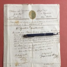 Manuscritos antiguos: VELEZ RUBIO- ALMERIA- DOCUMENTO MILICIA NACIONAL VOLUNTARIA- AÑO 1.855. Lote 100742915