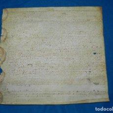 Manuscritos antiguos: (M) PERGAMINO AÑO 1581 EPOCA FELIPE II , 32 X 33 CM, SEÑALES DE USO. Lote 101278143