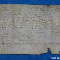 Manuscritos antiguos: (M) PERGAMINO AÑO 1311 JAIME IIDONACION DEL MAS BAISE , 28 X 19'5 CM, SEÑALES DE USO. Lote 101278879