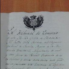 Manuscritos antiguos: DOCUMENTO MANUSCRITO. SELLO FISCAL 1842. DOCUMENTO COMPLETO. DESCONOZCO EL CONTENIDO. Lote 101625919