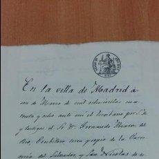 Manuscritos antiguos: DOCUMENTO MANUSCRITO. SELLO FISCAL 1848. DOCUMENTO COMPLETO. DESCONOZCO EL CONTENIDO. Lote 101626035