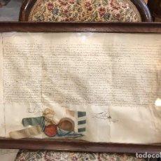 Manuscritos antiguos: CURIOSO DOCUMENTOS FRANCES EMPLOMADO, S. XVIII. Lote 101694071