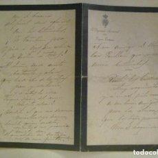 Manuscritos antiguos: CARTA DE LUTO DEL DIPUTADO PROVINCIAL POR ECIJA - ESTEPA : UN POEMA , FECHADO EN 1901. Lote 101951751