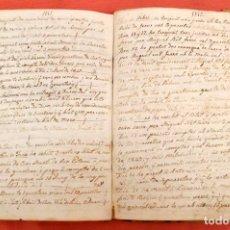 Manuscritos antiguos: LIBRO DE ANOTACIONES GENERALES DE CAN MONCLÚS (SANT ESTEVE DE PALAUTORDERA). AÑO 1840. Lote 102179775